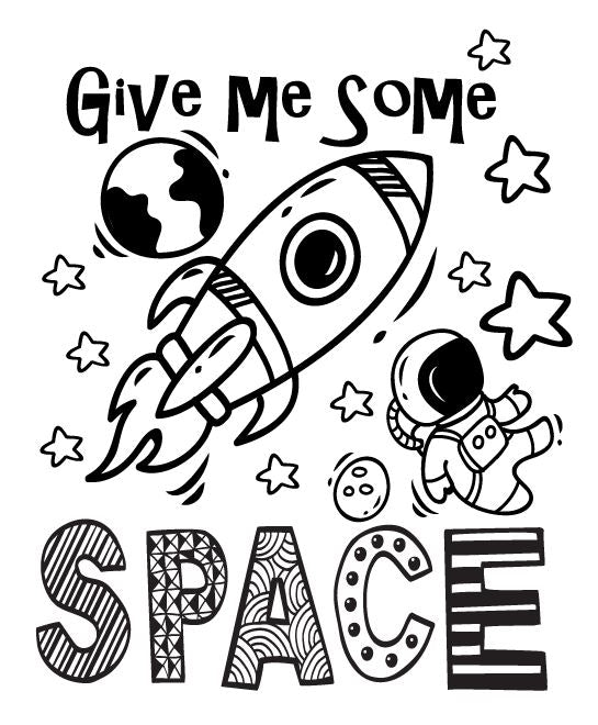 Doodle Tee - Give Me Some Space - Youth Design