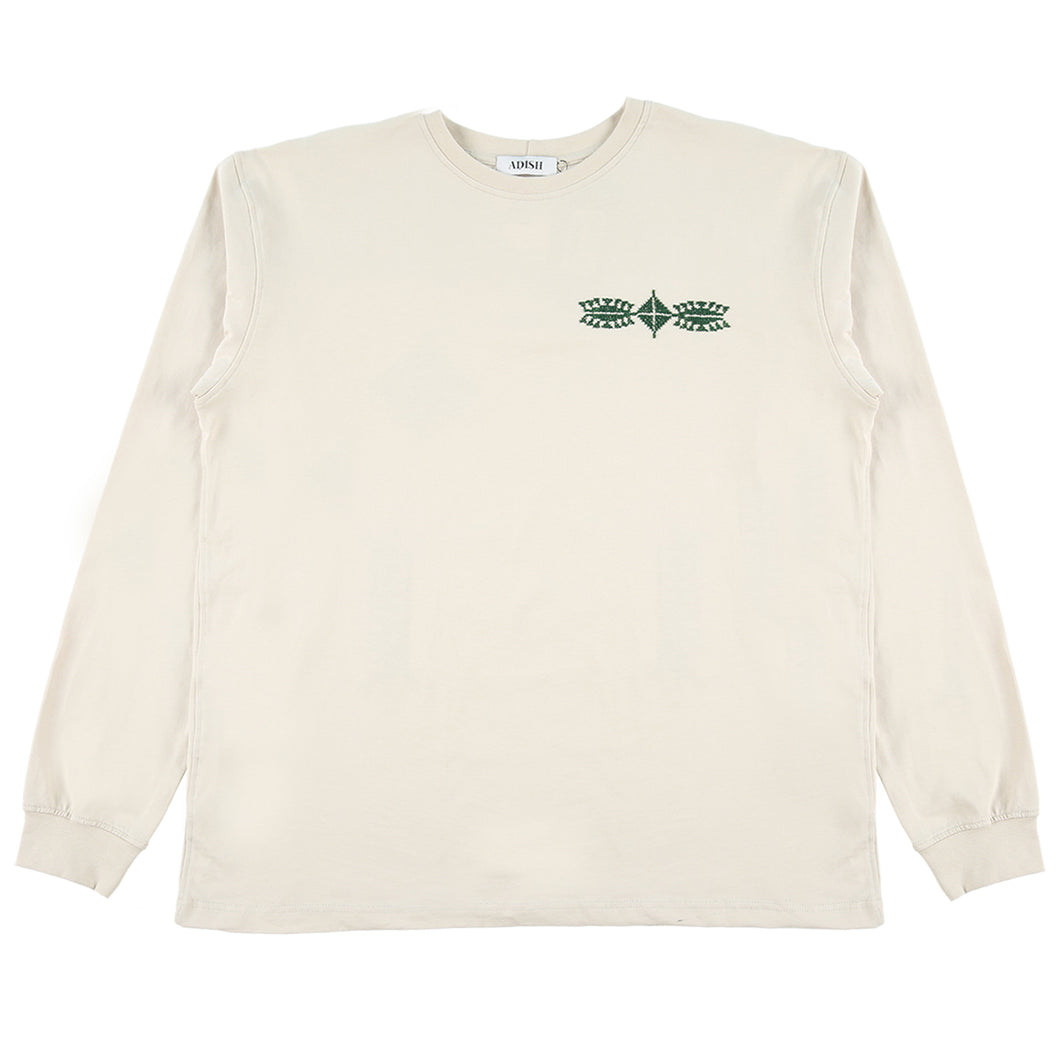 ADISH x Public Records NY Long Sleeve T-Shirt (Off White)