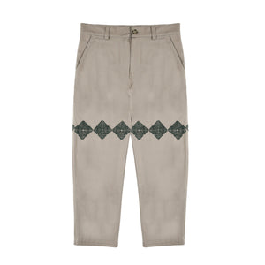 Qors Cotton Chino Trousers (Off White)