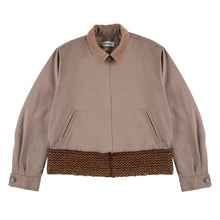 Load image into Gallery viewer, Hand-Woven Belt Cropped Zip-Jacket (Brown)