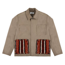 Load image into Gallery viewer, Hand-Woven Pockets Buttons Jacket (Brown)