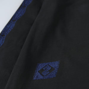 Web Exclusive Long Sleeve Makhlut Blue Embroidery Shirt