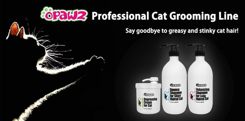 OPAWZ Professional Cat Grooming Line - Say goodbye to greasy and stinky cat hair!