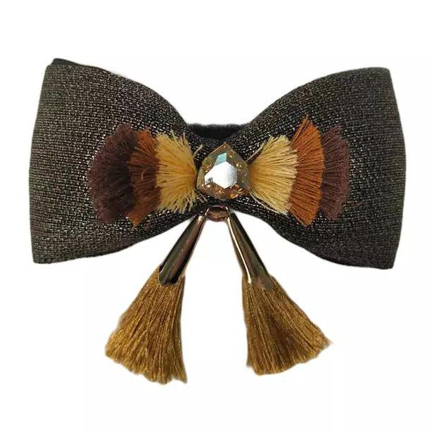 Pet Bow Tie with Golden Tassel Collar Slider - B017