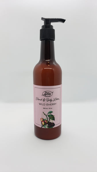 Wild Cherry Hand and Body Lotion, 300mL/10oz pump bottle, Lightly scented with cherries