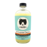 All Purpose Cleaner 5 X Concentrate - The Bare Co.  454ml Glass Bottle. All Natural Cleaner. Safe for any hard surfaces. Cut through grease and dirt with the power of Orange Essential Oil. Antibacterial Properties of Peppermint Oil leave your house smelling fresher than ever.