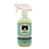 All Purpose Cleaner - The Bare Co.  454ml Glass Spray bottle. All Natural Cleaner.  Safe for any hard surfaces.  Cut through grease and dirt with the power of Orange Essential Oil.  Antibacterial Properties of Peppermint Oil leave your house smelling fresher than ever.