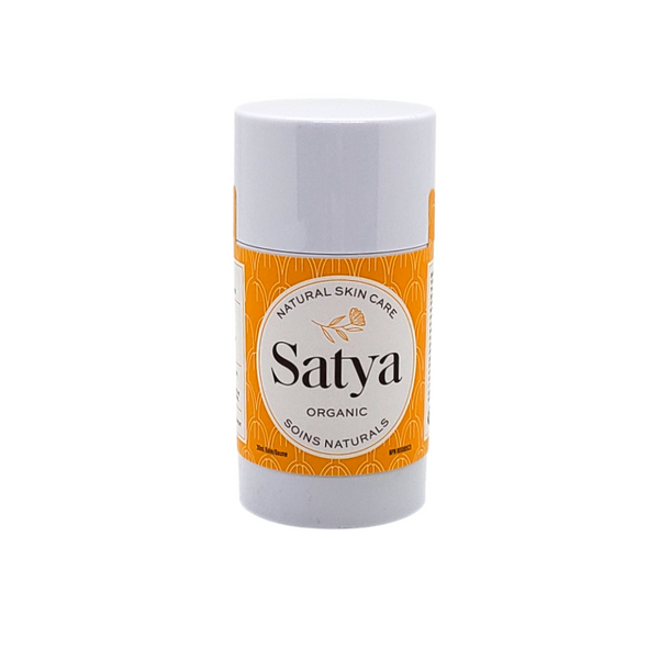Satya Stick - Satya Organic Eczema Relief. 30ml stick. Steroid Free, Use to prevent chapped lips, relieves eczema, psoriasis, burns, rashes and chaffing. Retains moisture, reduces skin inflammation and irritation.