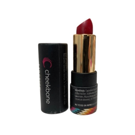 Sustain Lipstick in the shade Aki (Blue-Red), 4g tube, Indigenous owned hand poured lipstick in biodegradable packaging, these products are also all natural, vegan and cruelty free. An added bonus they are made in Ontario!