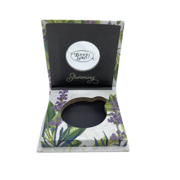 Empty Eye Compact, miniature mirror included, protect your pressed shadow from breaking.