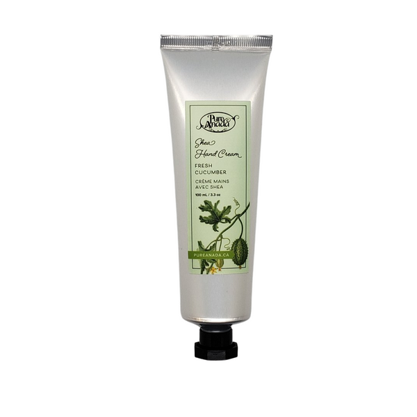 Cucumber Mint Shea Hand Cream, 100mL/3.3 oz tube, Littly scented with cucumber and mint