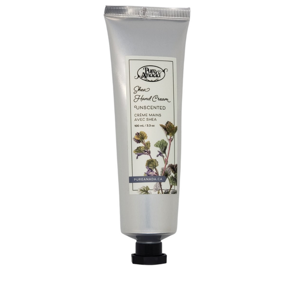 Unscented Shea Hand Cream, 100mL/3.3oz tube, fragrance-free