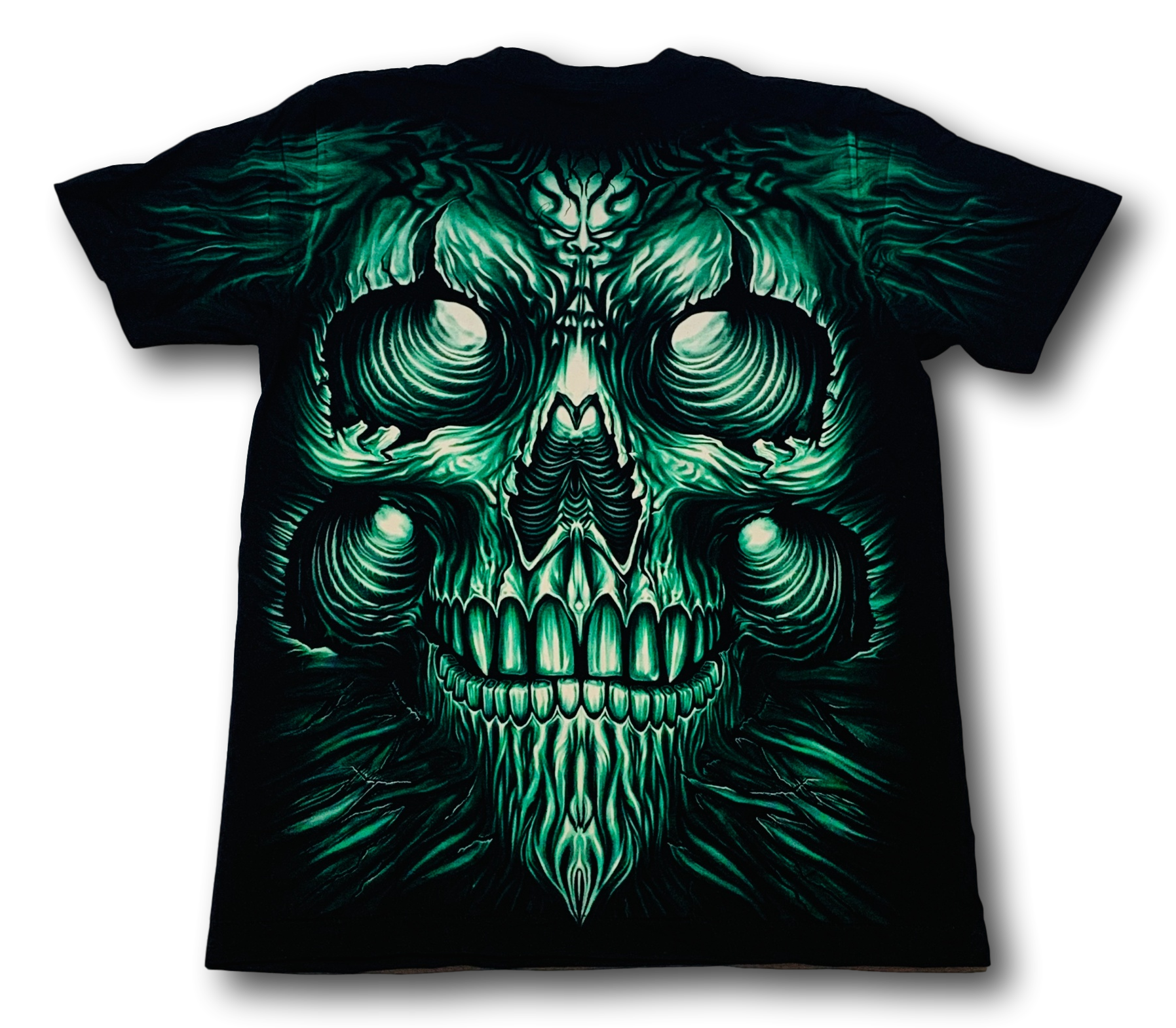 Rock Eagle T-Shirt Green Monster Glow in the Dark T-Shirt by Rock Eagle