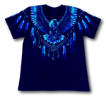 Load image into Gallery viewer, Eagle with Native American Feathers Glow in the Dark HD Rock Chang T-Shirt
