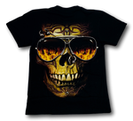 Load image into Gallery viewer, Skull with nose ring Glow in the Dark HD Hot Rock T-Shirt