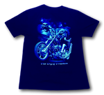 Load image into Gallery viewer, The Cry of Freedom Biker with Founding Fathers Glow in the Dark HD Hot Rock T-Shirt