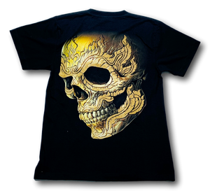 Skull Face metal studded ring Glow in the Dark HD Rock Chang T-Shirt