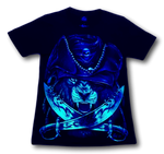 Load image into Gallery viewer, Lion with Purple Pirate Hat and Metal Nose ring Glow in the Dark HD Caballo T-Shirt