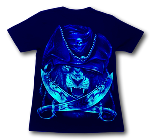 Lion with Purple Pirate Hat and Metal Nose ring Glow in the Dark HD Caballo T-Shirt