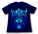 Load image into Gallery viewer, Lion with Golden Crown Glow in the Dark 4D Caballo T-Shirt