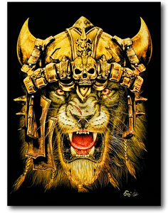Lion with Golden Crown Glow in the Dark 4D Caballo T-Shirt