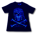 Load image into Gallery viewer, Pirate Skull with Metal nose ring Glow in the Dark 4D Caballo T-Shirt