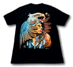 Load image into Gallery viewer, Eagle and Native American with Metal Nose Ring Glow in the Dark 4D Caballo T-Shirt