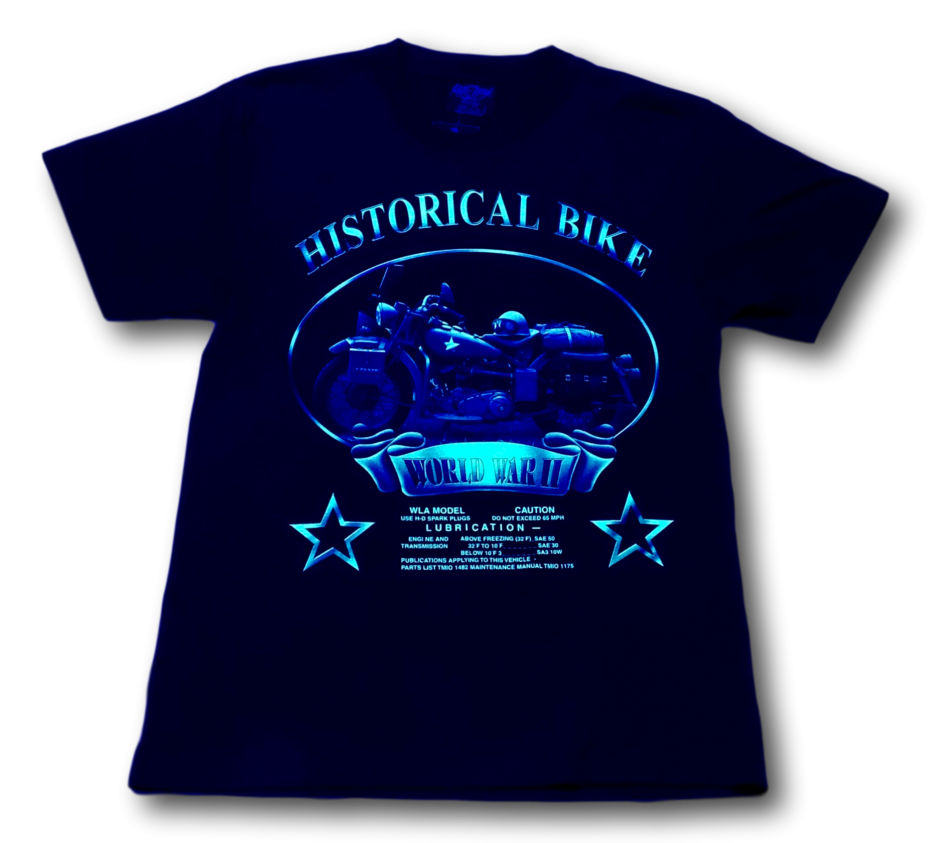 Historical Bike World War II Glow in the Dark HD Rock Chang T-Shirt