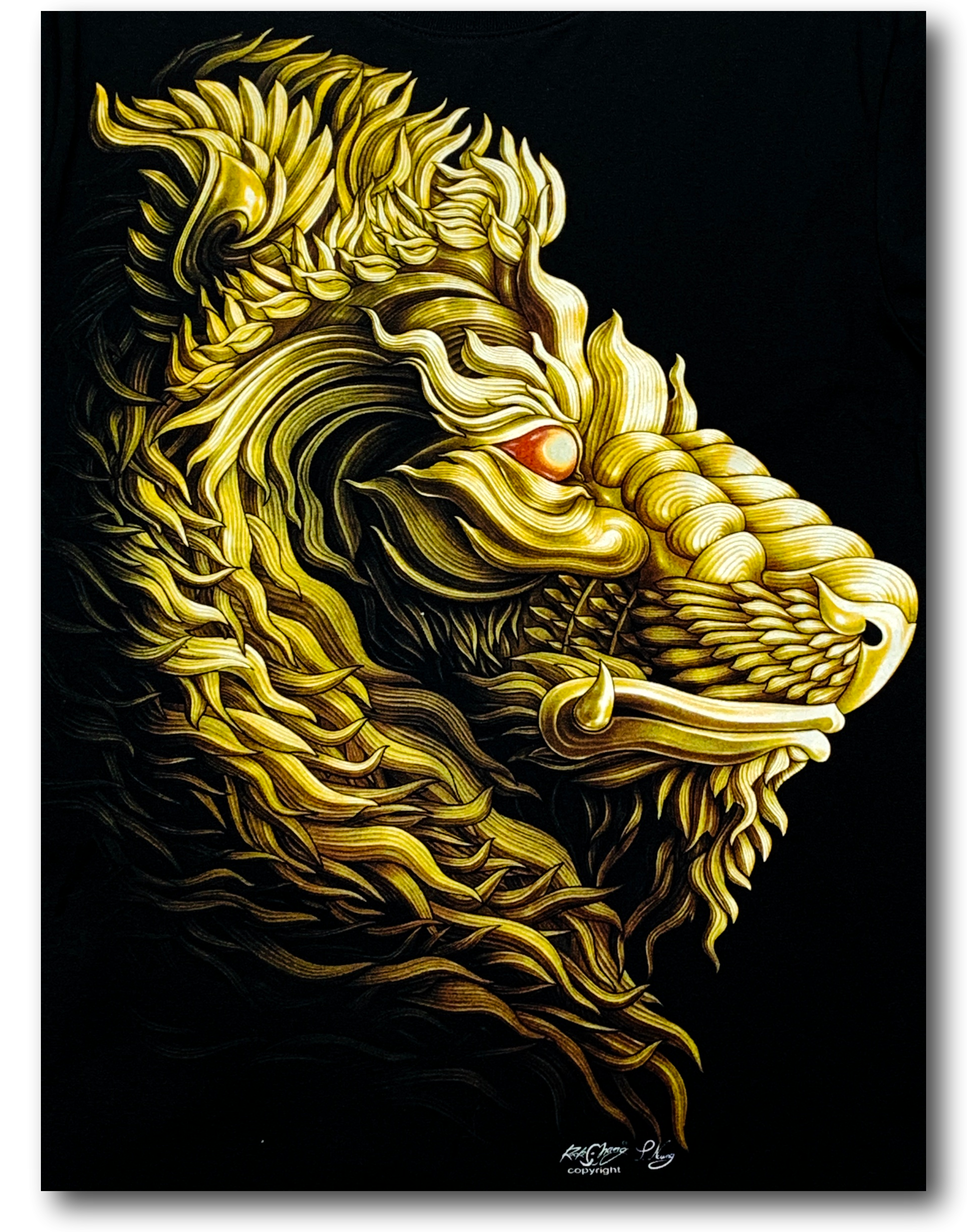 Tatoo Lion Head Glow in the Dark HD Rock Chang T-Shirt