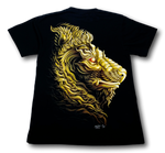Load image into Gallery viewer, Tatoo Lion Head Glow in the Dark HD Rock Chang T-Shirt