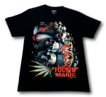 Load image into Gallery viewer, Skulls and Magic Marijuana Glow in the Dark HD Rock Chang T-Shirt