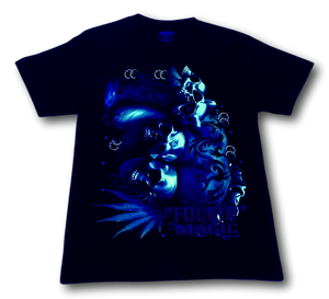 Skulls and Magic Marijuana Glow in the Dark HD Rock Chang T-Shirt