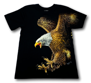 Eagle Wings with Stone Eye Glow in the Dark HD Rock Chang T-Shirt