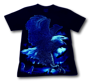 Eagle Wings with Wolf Pack Glow in the Dark HD Rock Chang T-Shirt