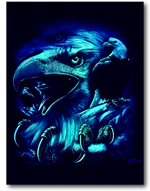 Load image into Gallery viewer, Eagle Head with Claws Glow in the Dark HD Rock Chang T-Shirt
