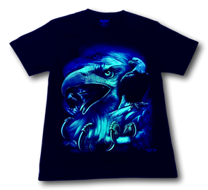 Eagle Head with Claws Glow in the Dark HD Rock Chang T-Shirt