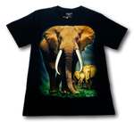Load image into Gallery viewer, Save the Elephant family Glow in the Dark HD Rock Chang T-Shirt