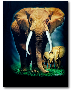 Save the Elephant family Glow in the Dark HD Rock Chang T-Shirt