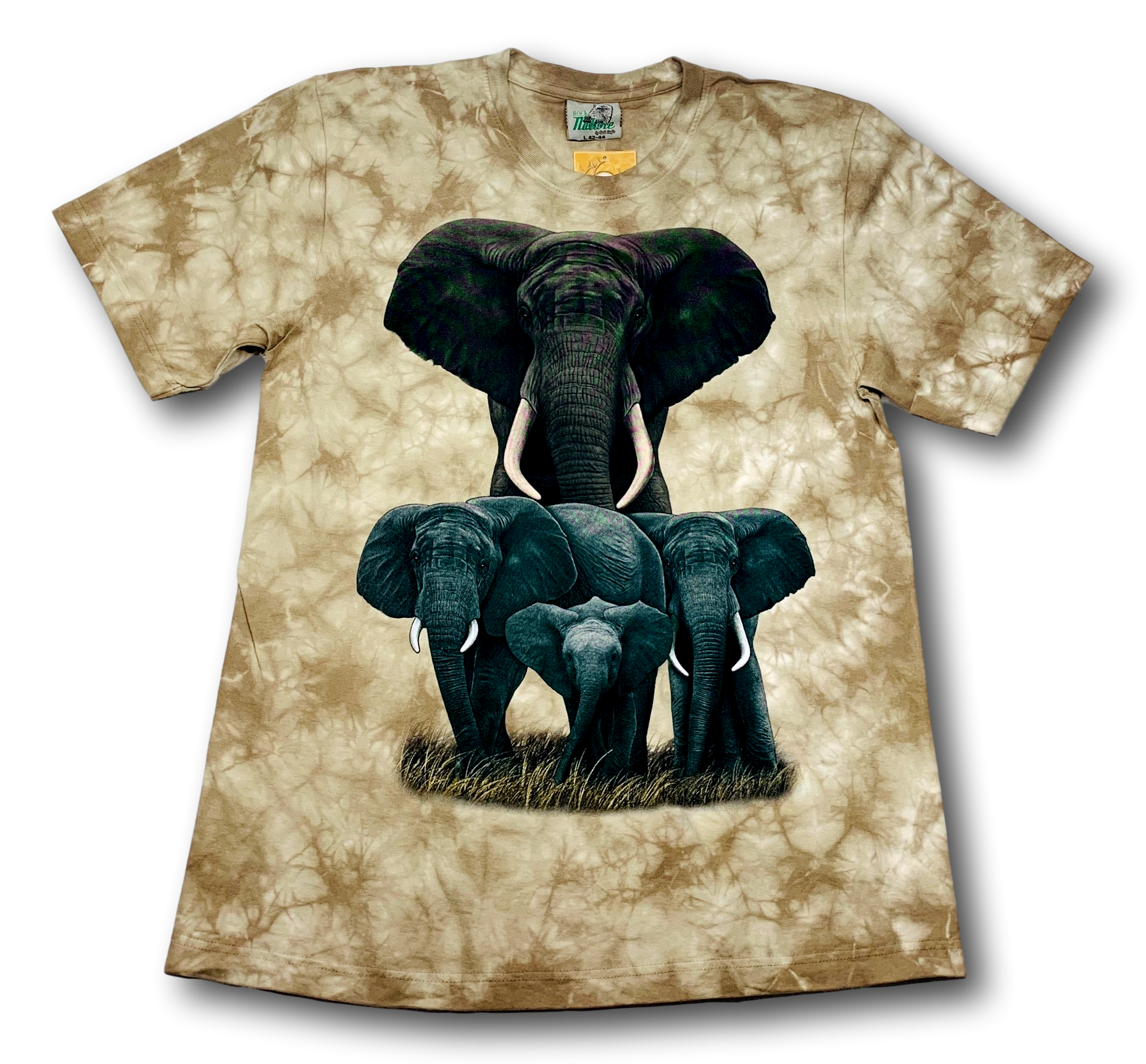 Save the Elephant HD Rock Nature Tie-Dye T-Shirt
