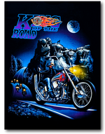 Load image into Gallery viewer, King of the Road Biker Glow in the Dark HD Rock Eagle T-Shirt