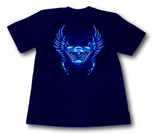King of the Road Biker Glow in the Dark HD Rock Eagle T-Shirt