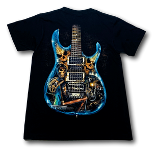 Electric Guitar Blue Glow in the Dark HD Rock Chang T-Shirt
