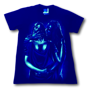 Vampire holding Lady Glow in the Dark HD Rock Eagle T-Shirt