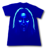 Load image into Gallery viewer, Vampire holding Lady Glow in the Dark HD Rock Eagle T-Shirt