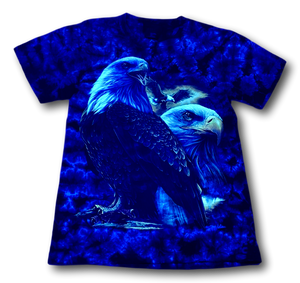 Eagle on Tie Dye Glow in Dark HD Rock Chang T-Shirt