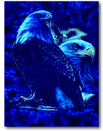 Load image into Gallery viewer, Eagle on Tie Dye Glow in Dark HD Rock Chang T-Shirt