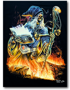 Wizard with Magic Book Glow in Dark HD Rock Chang T-Shirt