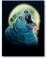 Load image into Gallery viewer, Howling Panther and Moon Glow in the Dark HD Rock Eagle T-Shirt