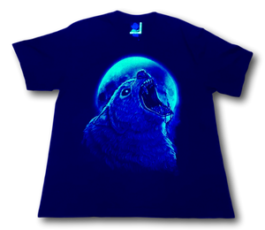 Howling Panther and Moon Glow in the Dark HD Rock Eagle T-Shirt
