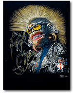 Load image into Gallery viewer, Monkey with Mohawk Glow in Dark HD Rock Chang T-Shirt